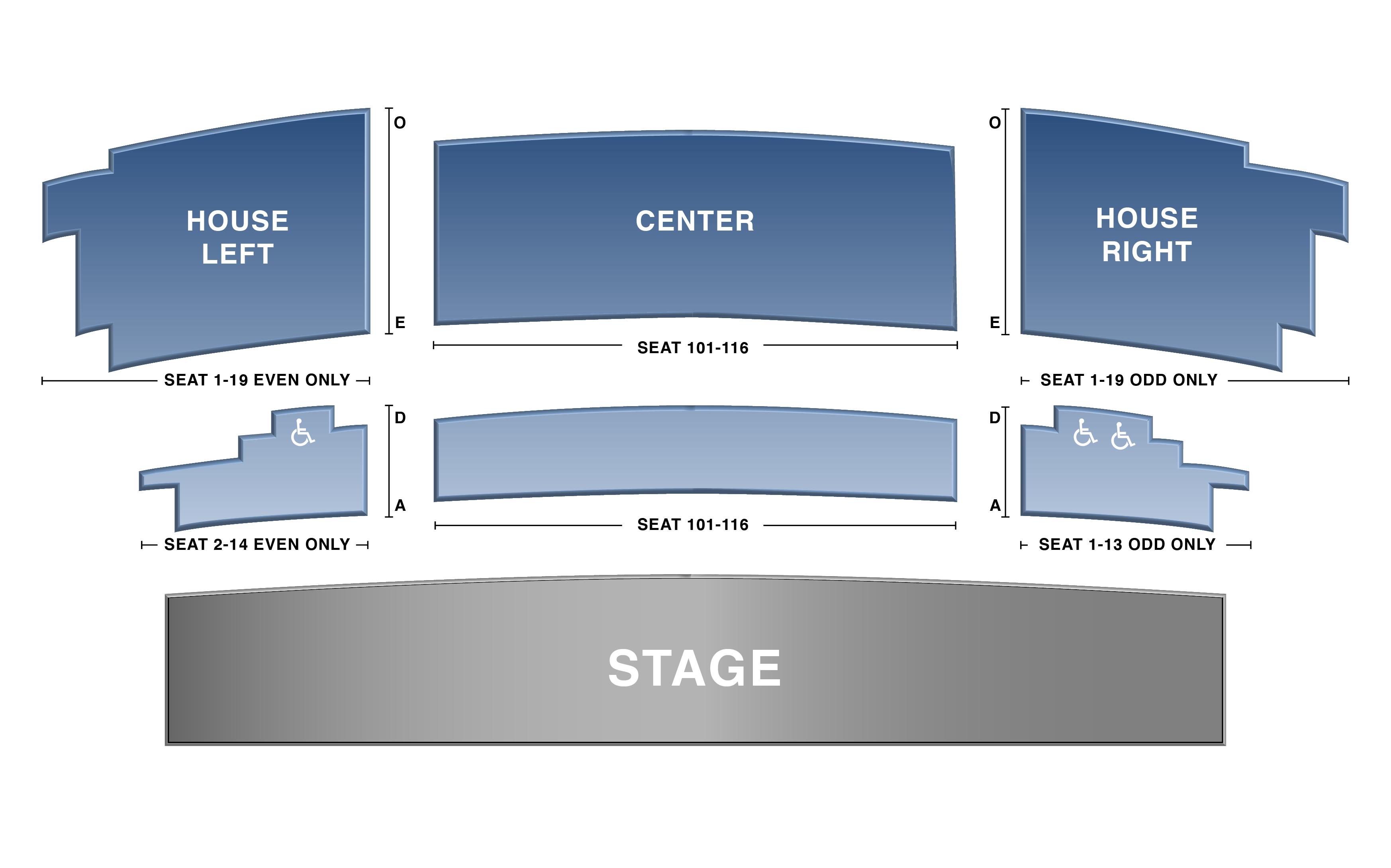 Panara Theatre Seat Map